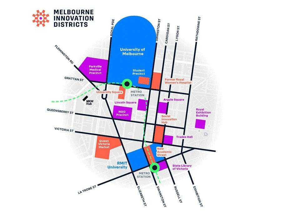 Register for the Melbourne Innovation Districts Forum at Melbourne Knowledge Week 2019